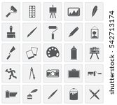 art icons set simple squares
