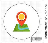 map with map pointer | Shutterstock .eps vector #542714773