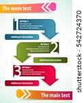 vector elements for infographic ...   Shutterstock .eps vector #542724370