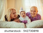 the mother father and daughter... | Shutterstock . vector #542730898