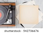 vintage music player turntable... | Shutterstock . vector #542736676