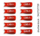 ribbon discount sale label set | Shutterstock . vector #542737759