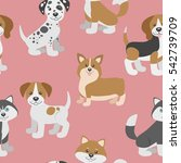 vector seamless pattern with...   Shutterstock .eps vector #542739709