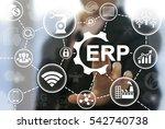 industrial erp business... | Shutterstock . vector #542740738