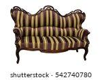 stripe baroque rokoko sofa ...   Shutterstock . vector #542740780