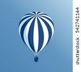 isometric hot air balloon flies ... | Shutterstock .eps vector #542741164