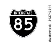 interstate highway 85 road sign.... | Shutterstock .eps vector #542741944