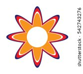 flower logo  icon  vector... | Shutterstock .eps vector #542743276