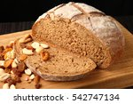 bread and nuts   bread and nuts ... | Shutterstock . vector #542747134