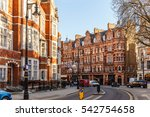 classic red brick building in... | Shutterstock . vector #542754658