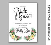 anemone wedding invitation... | Shutterstock .eps vector #542755159