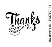 thanks. floral vintage isolated ... | Shutterstock .eps vector #542757448
