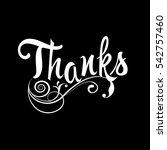 thanks. floral vintage... | Shutterstock .eps vector #542757460