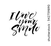 i love your smile postcard.... | Shutterstock .eps vector #542759890