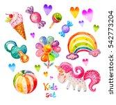 Colorful Watercolor Kids Set I...