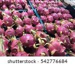 dragonfruit in shelves at... | Shutterstock . vector #542776684