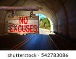 no excuses motivational phrase...   Shutterstock . vector #542783086