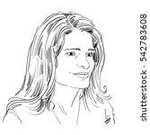 hand drawn portrait of white...   Shutterstock . vector #542783608