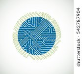 futuristic cybernetic scheme... | Shutterstock . vector #542787904