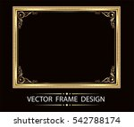 gold photo frame with corner... | Shutterstock .eps vector #542788174
