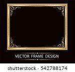 gold photo frame with corner... | Shutterstock .eps vector #542788174