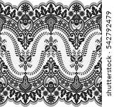 seamless lace pattern  flower... | Shutterstock .eps vector #542792479