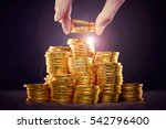 a large amount of coins  money | Shutterstock . vector #542796400