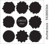 set of hand drawn circles ...   Shutterstock .eps vector #542800366