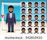 man black groom cartoon emotion ... | Shutterstock .eps vector #542810410