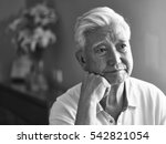black and white portrait of a... | Shutterstock . vector #542821054