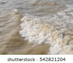 Muddy Sea Water With Small...
