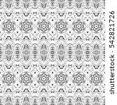 melting endless black and white ... | Shutterstock . vector #542821726