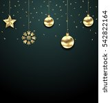 illustration christmas golden... | Shutterstock . vector #542822164