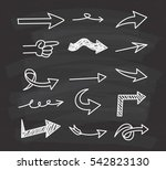 set of arrow doodle design... | Shutterstock .eps vector #542823130