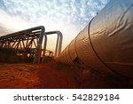 oil pipeline  the oil industry... | Shutterstock . vector #542829184