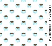 Coffee Cup Pattern. Cartoon...