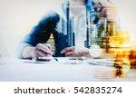 double exposure of... | Shutterstock . vector #542835274