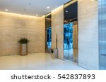 elevators in modern building in ... | Shutterstock . vector #542837893