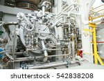 machine turbine in oil and gas... | Shutterstock . vector #542838208