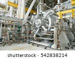 machine turbine in oil and gas... | Shutterstock . vector #542838214