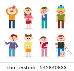 patients with various symptoms... | Shutterstock .eps vector #542840833