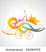 colorful abstract vector design ... | Shutterstock .eps vector #54284935