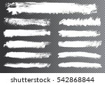 vector brush strokes.hand drawn ... | Shutterstock .eps vector #542868844