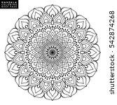 flower mandala. vintage... | Shutterstock .eps vector #542874268