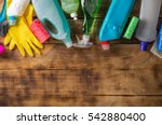variety house cleaning product... | Shutterstock . vector #542880400