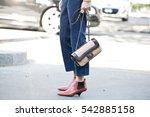 paris october 4  2016. street... | Shutterstock . vector #542885158
