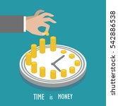 concept of time management.... | Shutterstock .eps vector #542886538