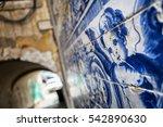an angel figure in azulejo...   Shutterstock . vector #542890630