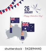 26 january. australia day... | Shutterstock .eps vector #542894440