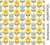 seamless floral background.... | Shutterstock .eps vector #542897920